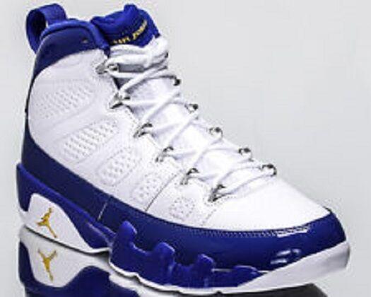 Nike air jordan 9 retrò (sz) 302370-121 concord lakers kobe pe limitata ds