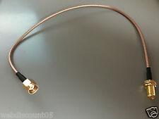 0,3 M Corto Antena Wifi Cable de extensión Plomo Inalámbrico Rp Sma 30cm vendedor Reino Unido