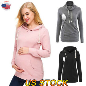 search for best release date Good Prices Details about US Pregnant Women's Maternity Hoodie Clothes Nursing Tops  Breastfeeding T-Shirt