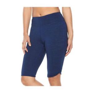c98f0568c8da2 Gaiam Women's Om Pedal Pusher Medieval Blue Heather Yoga Shorts ...