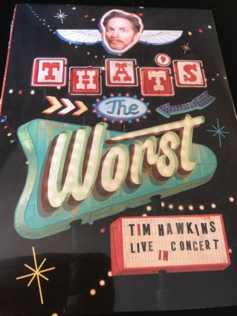 Tim Hawkins That's the Worst Live In Concert (DVD) Christian Comedian NEW