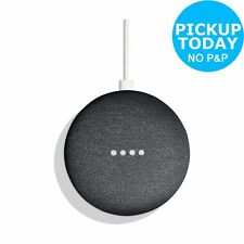 Google Home Mini Voice-Activated Wireless Bluetooth Speaker - Charcoal.