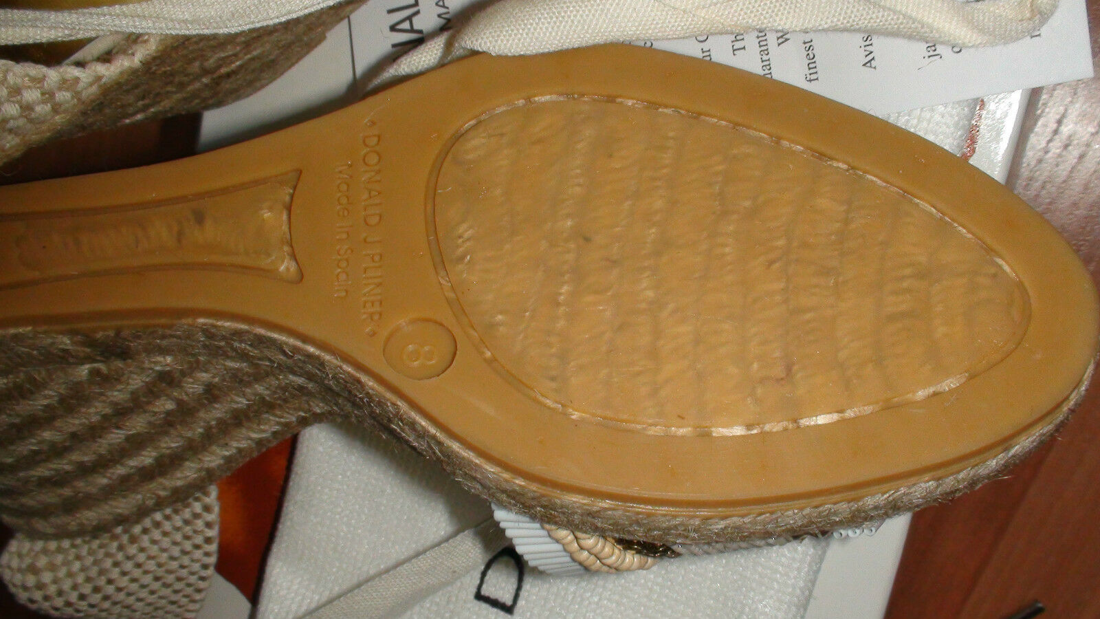 NEW NEW NEW DONALD J PLINER ELSA CANVAS COTTON damen schuhe sz.8 M MADE IN SPAIN 3eff75
