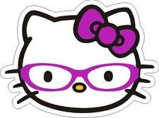 """Hello Kitty (Nerd / Glasses) Sticker - 3.5"""" x 4.75"""""""