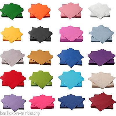 50 Wedding 33cm Luncheon Napkins Serviettes Tableware Party Supplies Colours