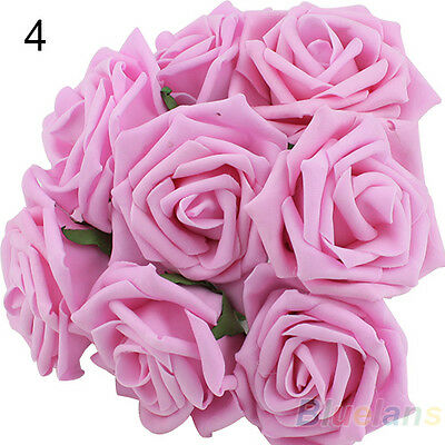 NICE BRIDAL BOUQUET ROSE FLOWER HEAD WEDDING PARTY BRIDESMAID DECORATION B35K NW