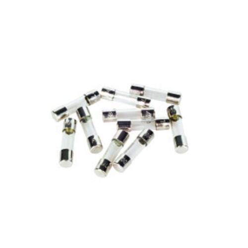 10 x t125ma Dull Glass Fuse 20 x 5mm 250v