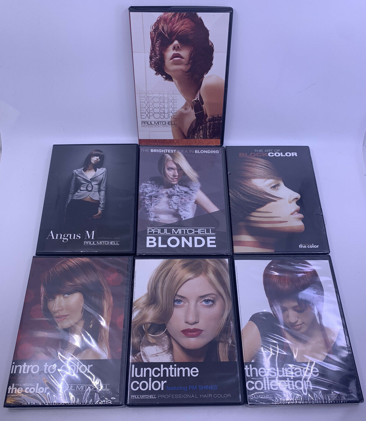 Paul Mitchell Professional Hair Color 11 DVD Lot - 11 SEALED - Blonding /  Angus M.