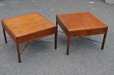 Pair Of Walnut End Tables In The Style Of Paul McCobb