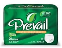 Prevail Extra Absorbency Underwear Medium Adult Diapers 20 Count Briefs