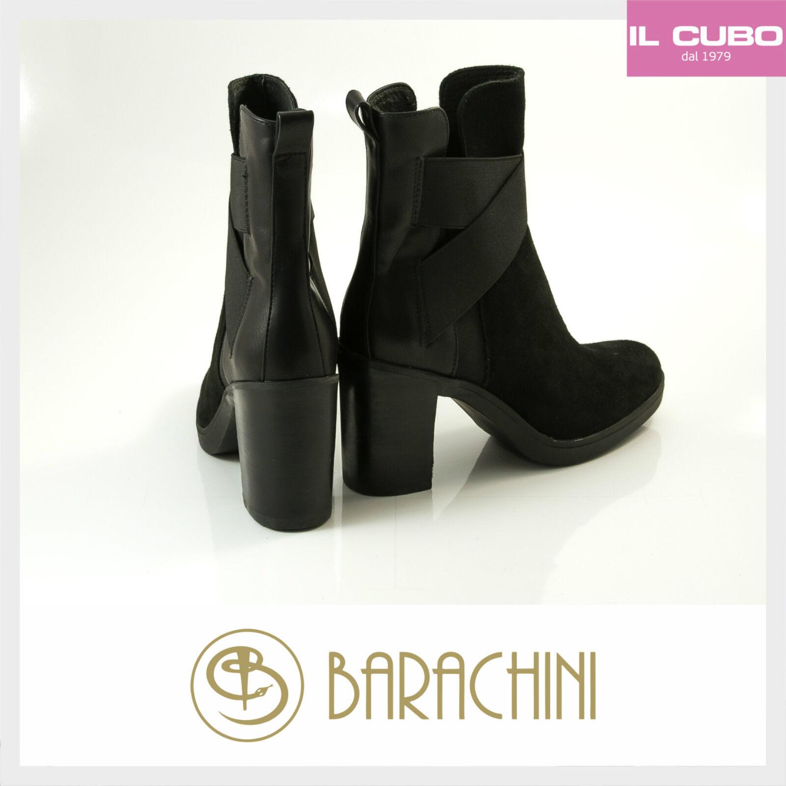 STIVALETTO Damens LUCIANO BARACHINI COLORE NERO TACCO H 8,5 CM MADE IN ITALY