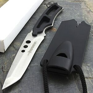 """6.5"""" TACTICAL MINI NECKLACE SECURITY KNIFE Survival Neck Pocket Boot Fixed Blade"""