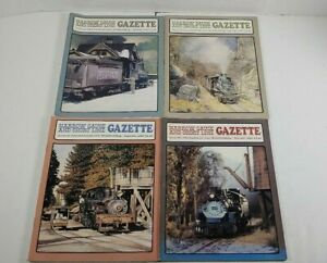 Narrow-Gauge-And-Short-Line-Gazzette-Lot-Of-4-1987-Modelbuilding-Magazines