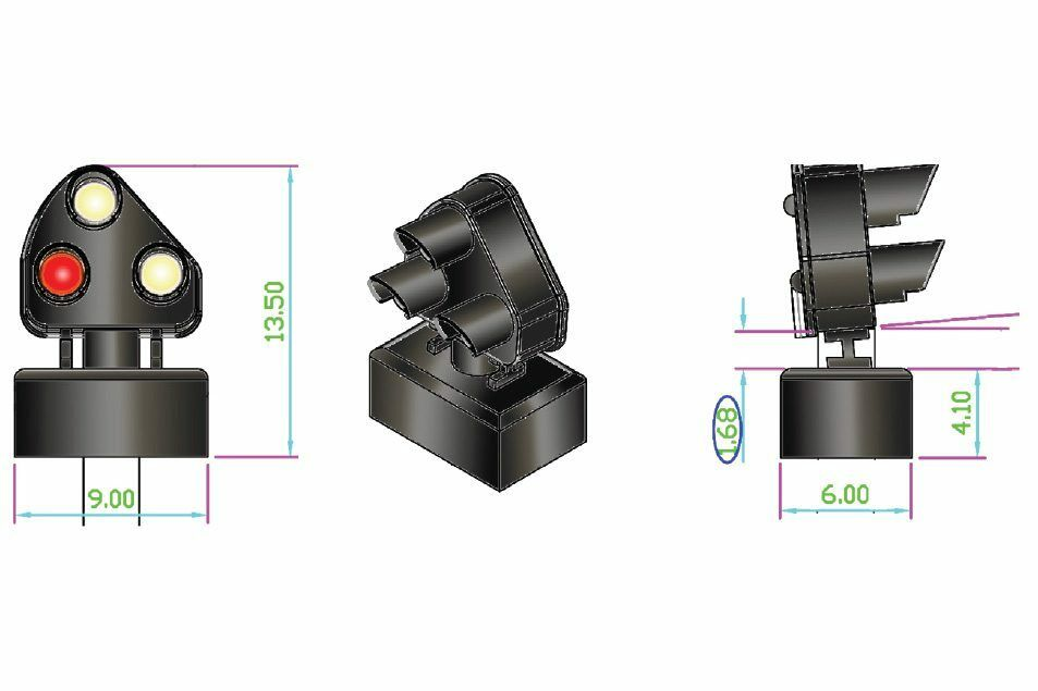 DCC Concepts Concepts Concepts DCD-MGS-BR - 12 x LMS BR Alpha Mimic Digital Ground Signals - T48Po 31051c