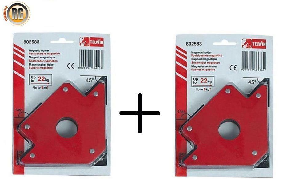 """4/"""" MAGNETE saldatura magnetica di grandi dimensioni Supporto per fino a 50lbs 45 90 135 angoli"""