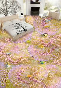 3D Pink Purple Coral 743 Floor WallPaper Murals Wall Print Decal AJ WALLPAPER US