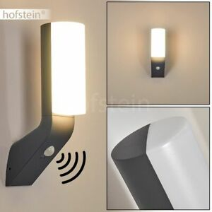 LED Sensor Außen Wand Lampen Hof Einfahrt Terrassen Haus Tür Leuchten Anthrazit