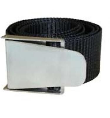 Blei & Bleigürtel Polaris Bleigurt Inox  schwarz 1,5 m mit Edelstahlschnalle 20900