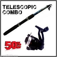 6ft Telescopic Travel Fishing Rod And Reel Set starter childs Fishing rod