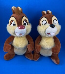 Walt-Disney-World-Chip-amp-Dale-Soft-Plush-Toy-Figures-Lot-of-2