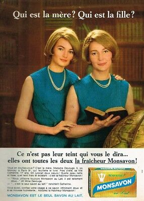 Sincere M Publicité Advertising 1968 Le Savon Monsavon Avec Mme Devouge Vivid And Great In Style Collectibles
