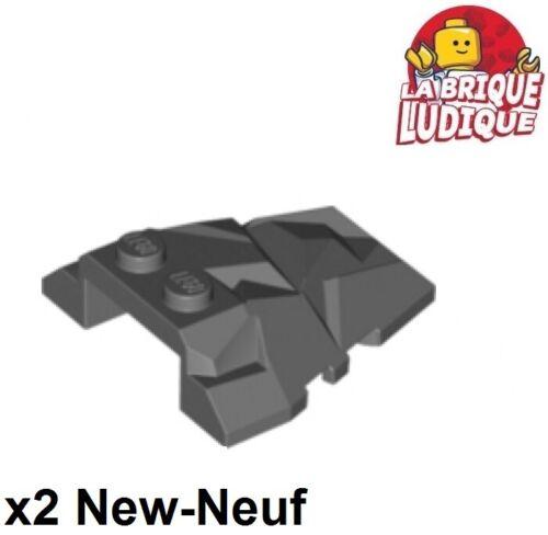 Dark Bluish Gray 64867 Neu Lego 2x Wedge 4x4 Slope Rock Felsen Dunkelgrau
