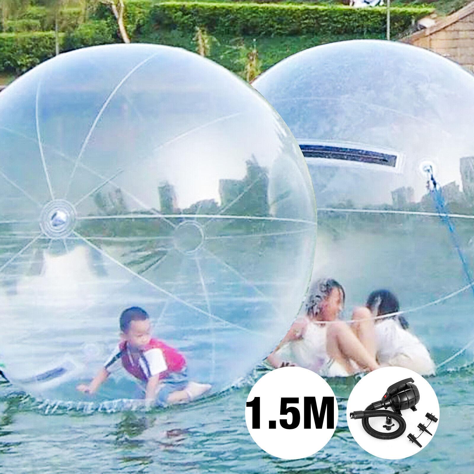 Zorb 1.5M water walking ballon inflatable plage ball L'eau rouleau rouleau boule