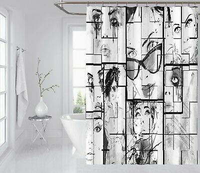 Shower Curtains Curtains, Drapes & Valances Systematic 3d Horror Comics 79 Shower Curtain Waterproof Fiber Bathroom Windows Toilet