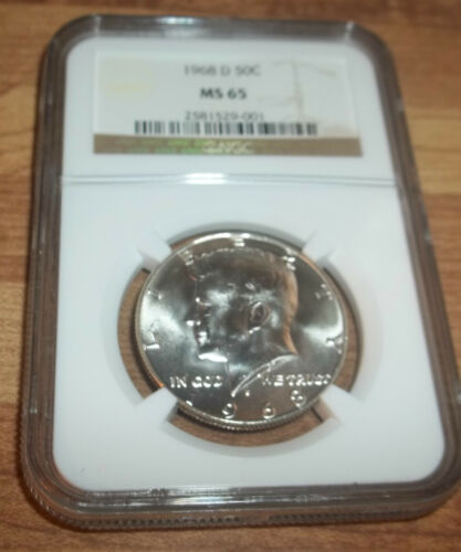 1968-D NGC MS65 Blast White KENNEDY HALF PQ YOU CHOOSE THE ONE YOU WANT