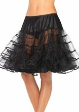 Halloween COSTUMES Accessories BLACK Petticoat Knee Length Tulle Tutu Adult OS