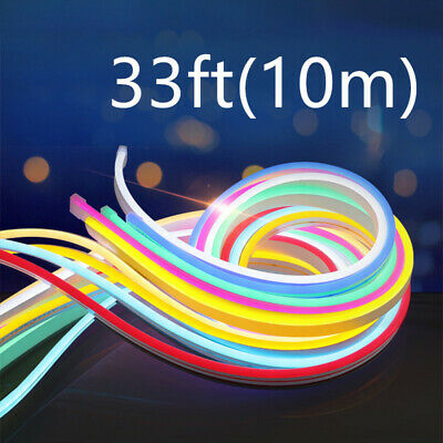 Details about  /1M 12V SMD2835 Flex LED Strip Waterproof Neon Ribbon Light Silicone Tube Soft US