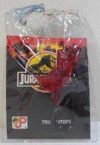 JURASSIC-PARK-VTG-90-039-s-KO-DINOSAUR-T-REX-2-039-039-CLEAR-RED-FIGURE-KEY-CHAIN