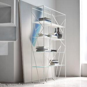 Libreria Metallo E Vetro O Legno Mod Naviglio 7247 Tonin Casa Nero