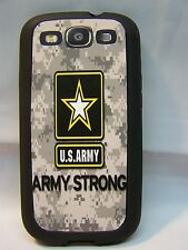 FITS Samsung Galaxy S3 i 9300 Phone Cover Case US ARMY ARMY STRONG CAMO