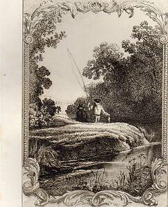 2019 DernièRe Conception Eau Forte / Fables De La Fontaine 1883 / Le Petit Poisson Et Le Pescheur Vif Et Grand Dans Le Style