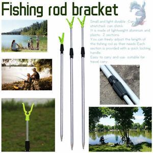 3 Adjustable Pole Fish Tool Fishing Rod Stand Support Bracket Rest Ground Holder