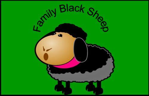 Grand mouton cute animal famille mouton noir solitaire outsider drôle aimant de réfrigérateur