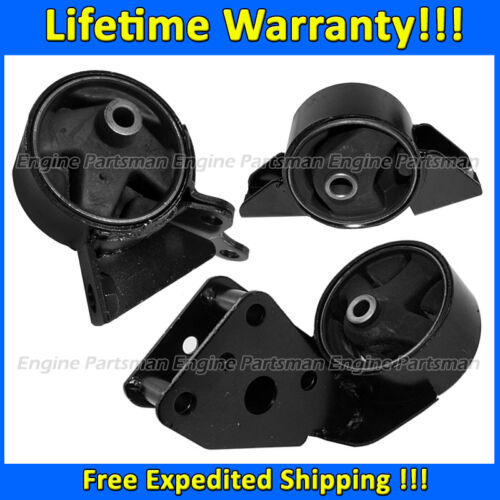 K0211 Motor/&Trans Mount 3pc Set for 1991-1994 Nissan Sentra 1.6L w//4Speed AUTO