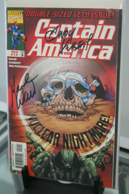 MARVEL COMICS CAPTAIN AMERICA #12 1998 SIGNED BY MARK WAID & ANDY KUBERT