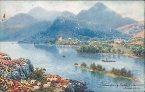 Loch-oich-invergarry-castle-1907-tucks-oilette