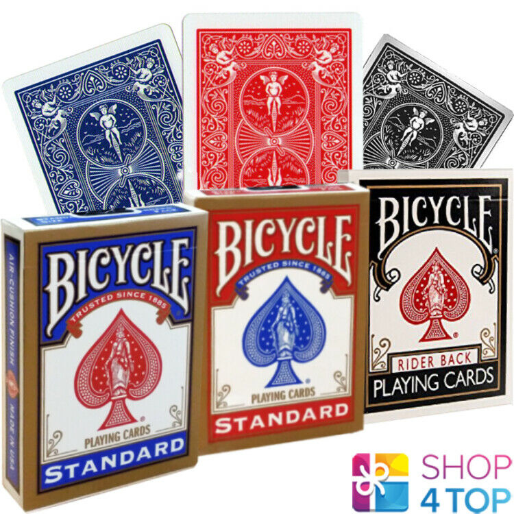 Bicycle Standard Index 4 Pack of Black and Red Playing Cards