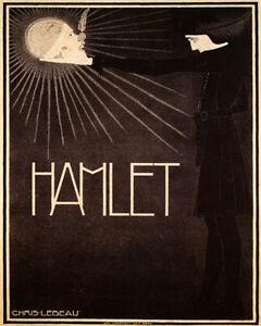 POSTER HAMLET SKULL SCENE TRAGEDY THEATER BY SHAKESPEARE ...