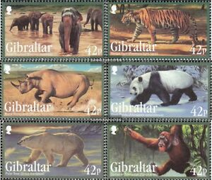 Great Britain Gibraltar 1431-1436 Mint Never Hinged Mnh 2011 Affected Species