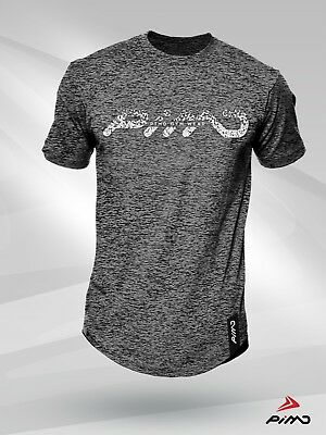 Pimd Scatter Grey Tee - Fitness Workout Lifestyle Gym Long Line T-shirt Mens Starker Widerstand Gegen Hitze Und Starkes Tragen