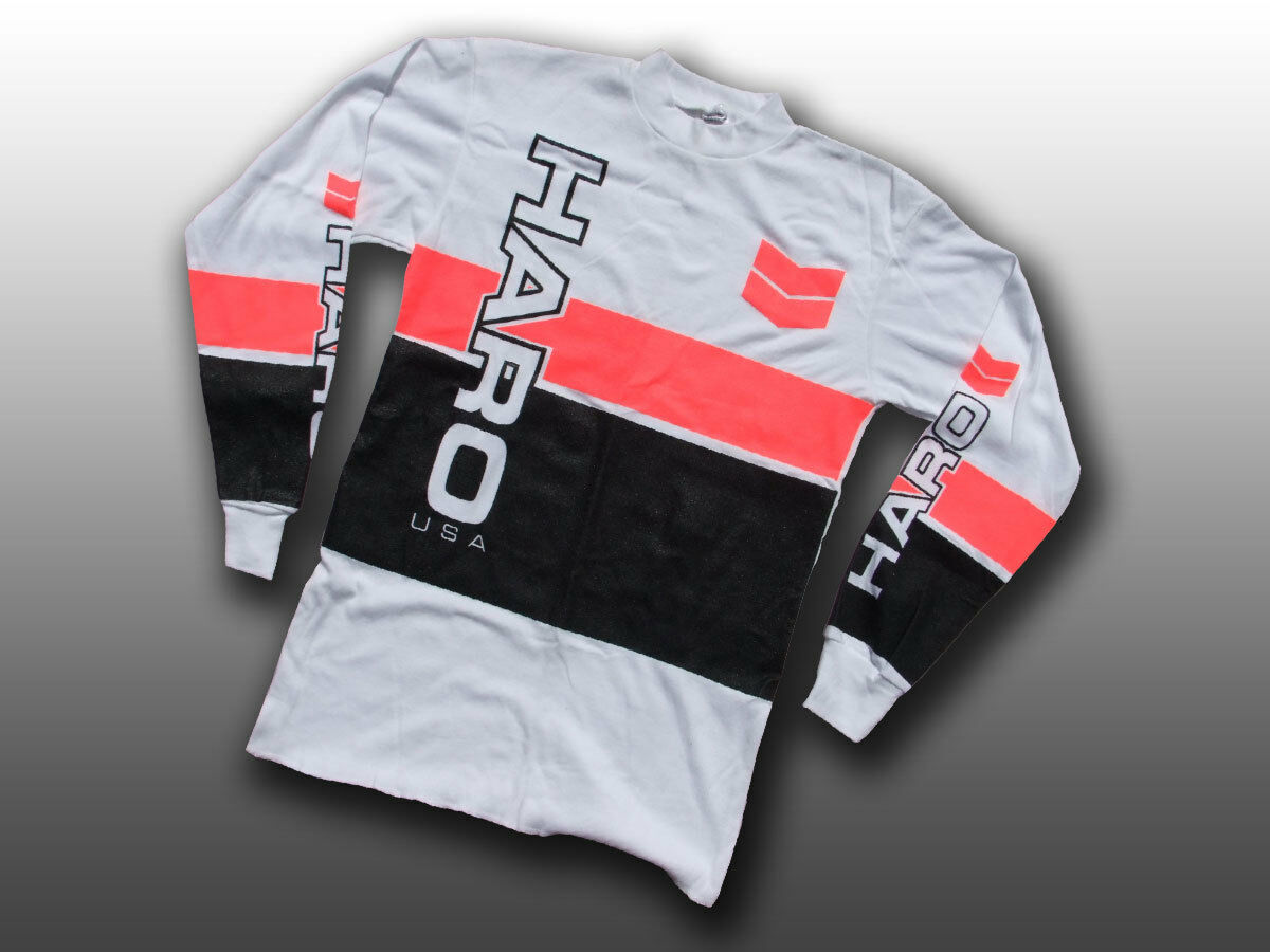 Haro Designs Old school BMX, à manches longues Jersey FREESTYLE cyclisme, Am