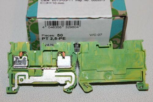 1 PHOENIX CONTACT Schutzleiter-Reihenklemme  PT 2,5 PE 3209536    NEU