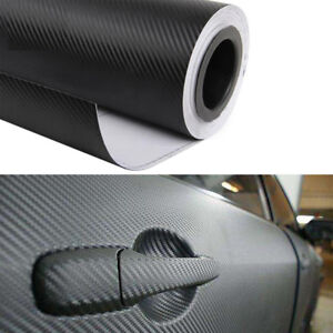 Auto-3D-Carbon-Folie-Blasenfrei-Matt-Wrapping-Wasserdicht-Schwarz-Decal-127x40cm
