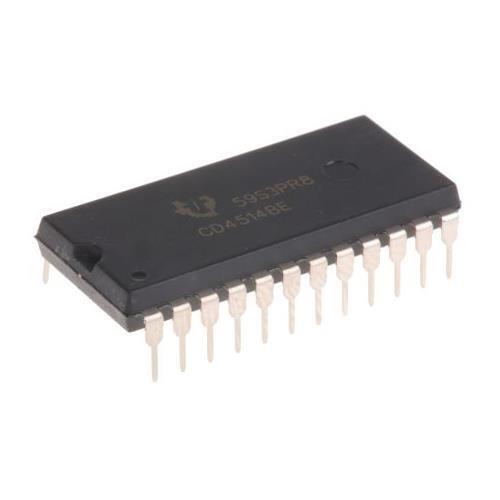 2 X Texas Instruments CD4514BEE4 decodificador desmultiplicador 1-of-16 no invertir 3-18V