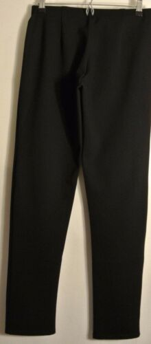 NEW EILEEN FISHER Black Elastic Waist Slim Ponte Pants Size M