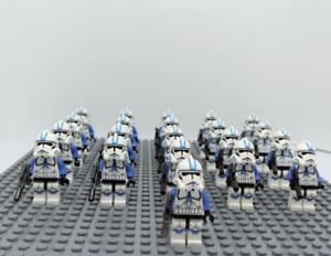 21Pcs-Minifigures-Star-Wars-Blue-Clone-Trooper-501st-Clone-Army-Lego-MOC-Kids